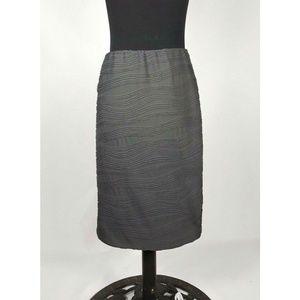 Mossimo Gray Stretch Pencil Skirt Petite Small S/P